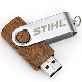 Дървено USB, 16 GB