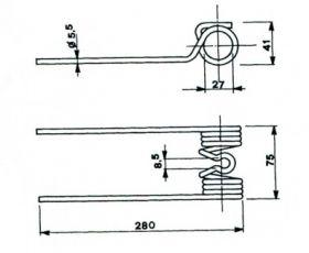 Пружина за сеносъбирачката A14101