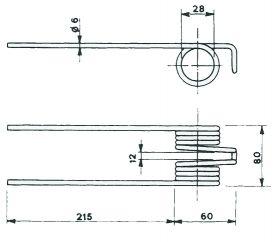 Пружина за сеносъбирачката A14103
